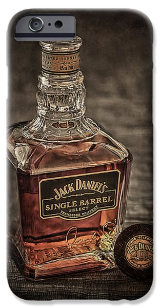 Daniel iPhone Cases - Jack Daniels Single Barrel iPhone Case by Erik Brede