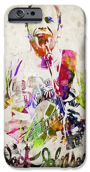 Autographed iPhone Cases - Jack Johnson Portrait iPhone Case by Aged Pixel