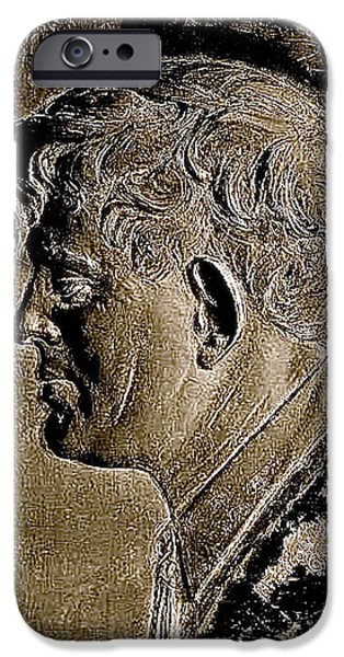 Richard Conte iPhone Cases - Jack London bas relief no known date-2013 iPhone Case by David Lee Guss