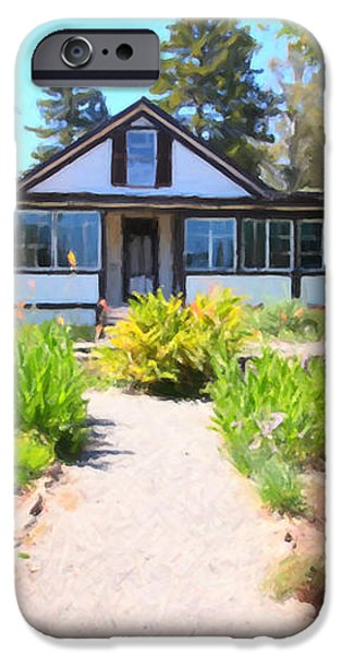 Jack London Countryside Cottage And Garden 5D24565 iPhone Case by Wingsdomain Art and Photography