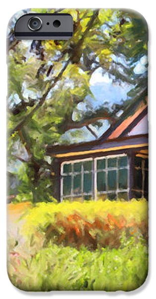 Jack London Countryside Cottage And Garden 5D24570 long iPhone Case by Wingsdomain Art and Photography