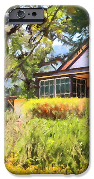 Jack London Countryside Cottage And Garden 5D24570 iPhone Case by Wingsdomain Art and Photography