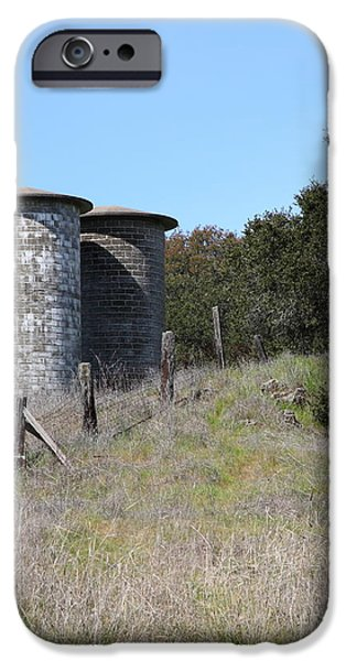 Jack London Ranch Silos 5D22146 iPhone Case by Wingsdomain Art and Photography