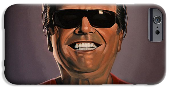 Nest iPhone Cases - Jack Nicholson 2 iPhone Case by Paul  Meijering