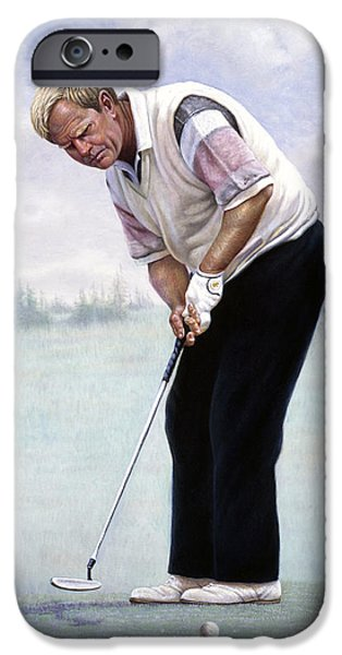 U.s Heroes iPhone Cases - Jack Nicklaus iPhone Case by Gregory Perillo