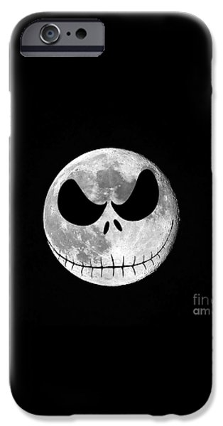 Jack Skellington Moon iPhone Case by Al Powell Photography USA