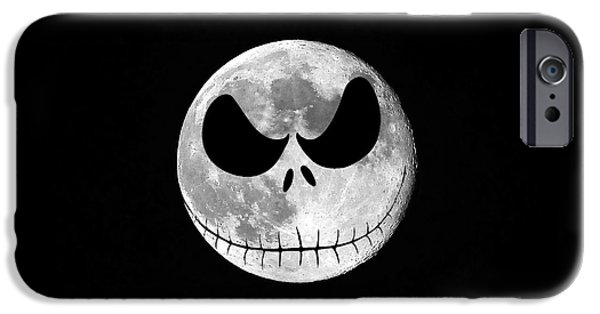Best Sellers -  - Moonscape iPhone Cases - Jack Skellington Moon iPhone Case by Al Powell Photography USA