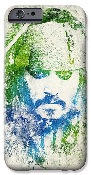 Pirate iPhone Cases - Jack Sparrow iPhone Case by Aged Pixel