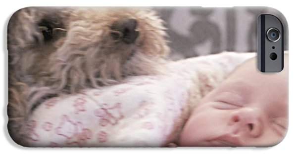 Puppy Digital Art iPhone Cases - Jack the Bodyguard iPhone Case by Donna Brown