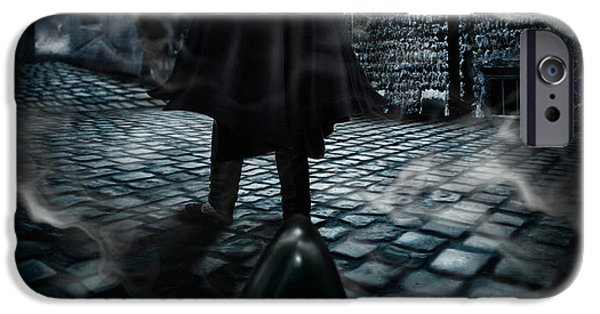 Night Lamp iPhone Cases - Jack the ripper iPhone Case by Alessandro Della Pietra