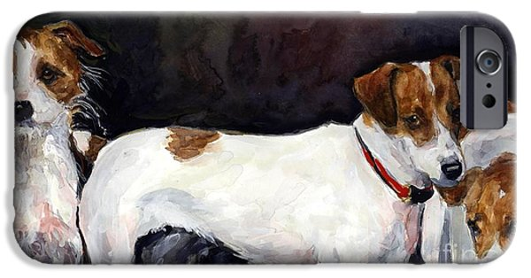 Jack Russell iPhone Cases - Jack Trio iPhone Case by Molly Poole