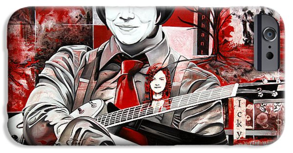 Stripes iPhone Cases - Jack White iPhone Case by Joshua Morton