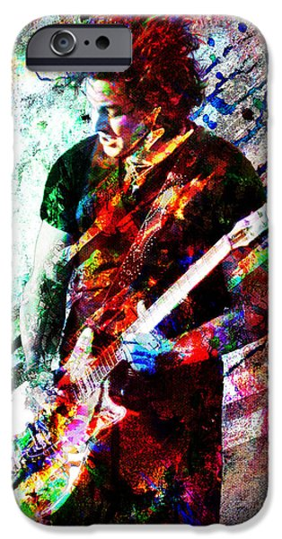 Rock N Roll Paintings iPhone Cases - Jack White Original Painting Print iPhone Case by Ryan RockChromatic
