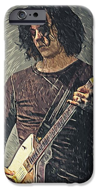Montgomery iPhone Cases - Jack White iPhone Case by Taylan Soyturk
