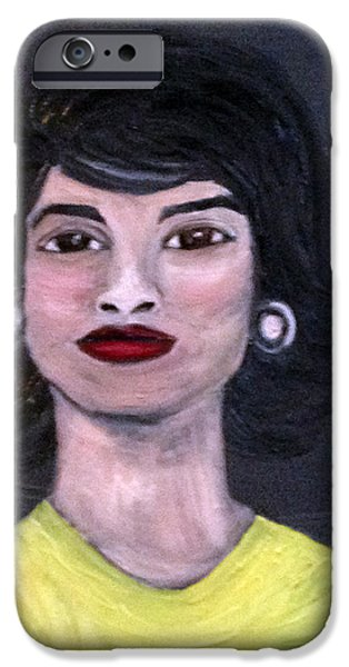 First Lady Paintings iPhone Cases - Jackie Kennedy iPhone Case by Deb Wolf