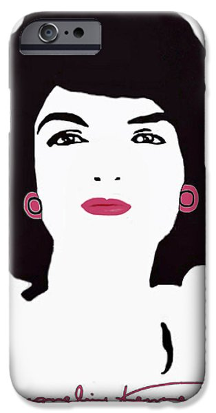 Jackie Kennedy Signature Pink Lips iPhone Case by Jost Houk