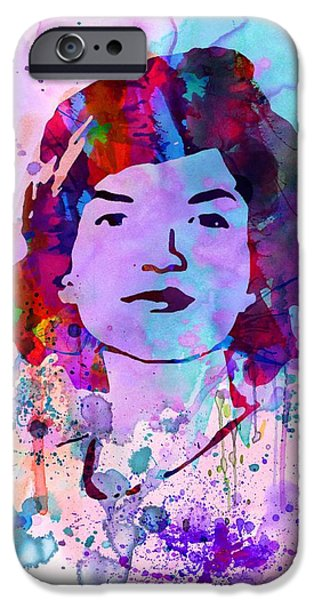 Jackie Kennedy Watercolor iPhone Case by Naxart Studio