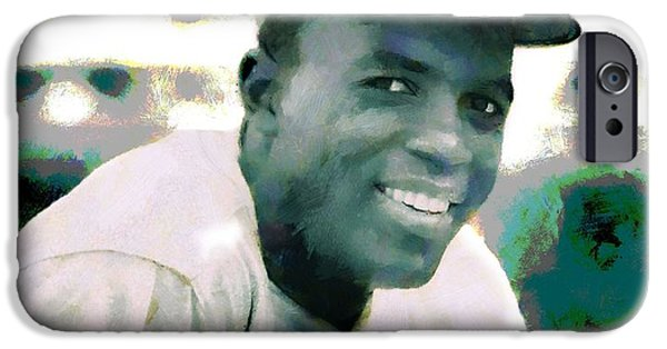 All Star Game iPhone Cases - Jackie Robinson Poster iPhone Case by Dan Sproul
