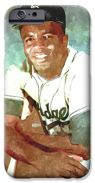 Jackie Robinson iPhone Case by Gianfranco Weiss
