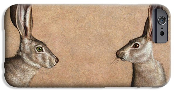 Tan iPhone Cases - Jackrabbits iPhone Case by James W Johnson