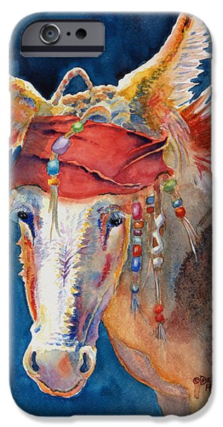 Flashy Paintings iPhone Cases - Jack Burro iPhone Case by Deb  Harclerode