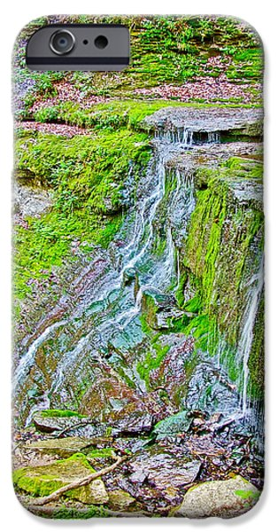 Natchez Trace Parkway iPhone Cases - Jackson Falls at Mile 405 of Natchez Trace Parkway-Tennessee iPhone Case by Ruth Hager