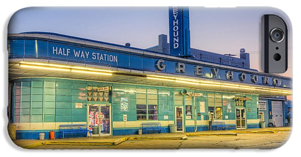 Old Bus Stations iPhone Cases - Jackson Greyhound Bus Station I iPhone Case by Clarence Holmes