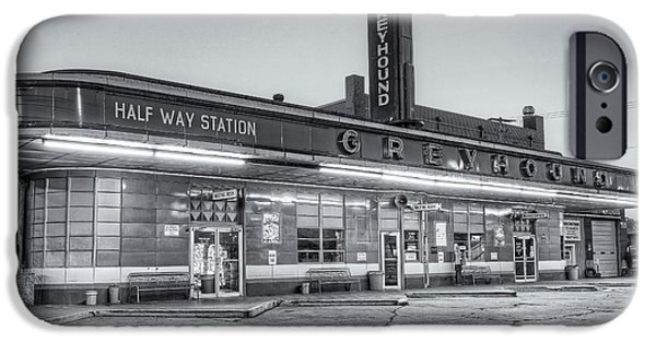 Old Bus Stations Photographs iPhone Cases - Jackson Greyhound Bus Station II iPhone Case by Clarence Holmes