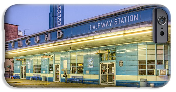 Old Bus Stations iPhone Cases - Jackson Greyhound Bus Station III iPhone Case by Clarence Holmes