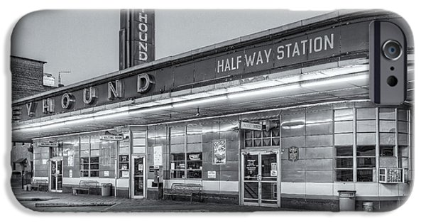 Old Bus Stations iPhone Cases - Jackson Greyhound Bus Station IV iPhone Case by Clarence Holmes