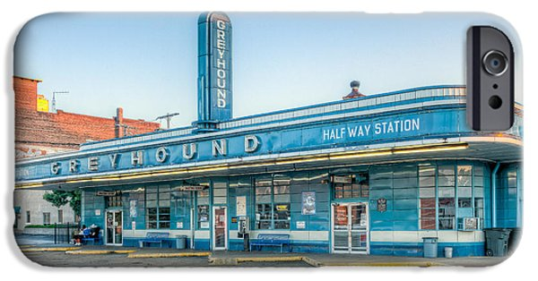 Old Bus Stations iPhone Cases - Jackson Greyhound Bus Station V iPhone Case by Clarence Holmes