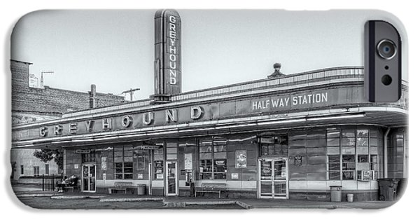 Old Bus Stations iPhone Cases - Jackson Greyhound Bus Station VI iPhone Case by Clarence Holmes