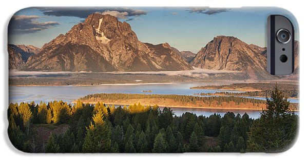 Beauty Mark iPhone Cases - Jackson Lake Morning iPhone Case by Mark Kiver