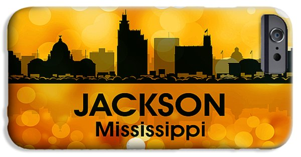 Buildings Mixed Media iPhone Cases - Jackson MS 3 iPhone Case by Angelina Vick
