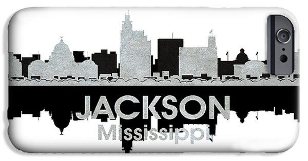 Buildings Mixed Media iPhone Cases - Jackson MS 4 iPhone Case by Angelina Vick