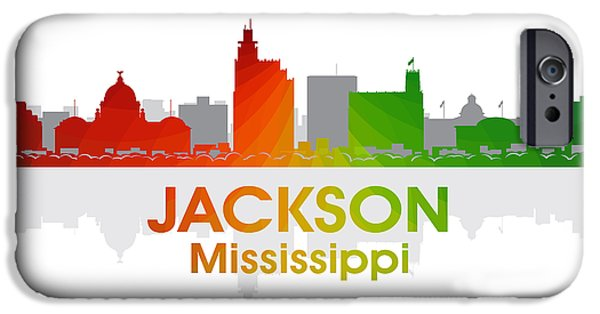 Concrete Jungle iPhone Cases - Jackson MS iPhone Case by Angelina Vick