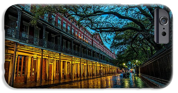 Night Lamp iPhone Cases - Jackson Square at dawn iPhone Case by Andy Crawford