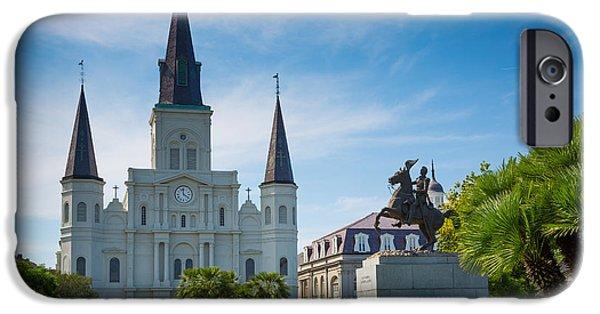 Louisiana Photographs iPhone Cases - Jackson Square iPhone Case by Inge Johnsson