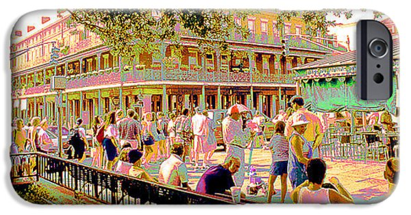 Business Digital Art iPhone Cases - Jackson Square New Orleans Loisiana iPhone Case by A Gurmankin