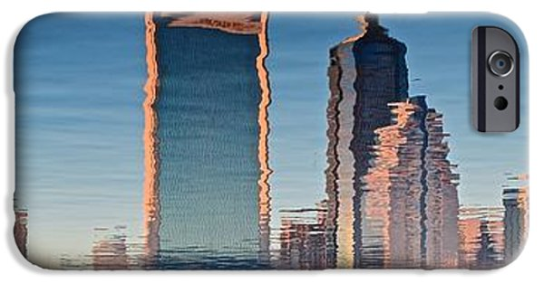 St. Johns River iPhone Cases - Jacksonville Abstract Panorama iPhone Case by Frozen in Time Fine Art Photography