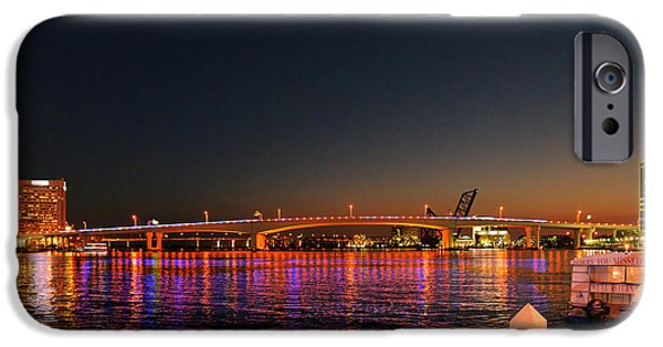 St. Johns River iPhone Cases - Jacksonville Acosta Bridge iPhone Case by Christine Till