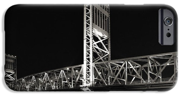 St. Johns River iPhone Cases - Jacksonville Florida Main Street Bridge iPhone Case by Christine Till