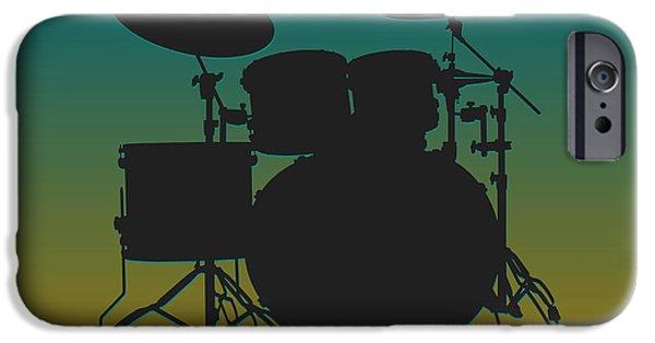 Drum Sets iPhone Cases - Jacksonville Jaguars Drum Set iPhone Case by Joe Hamilton