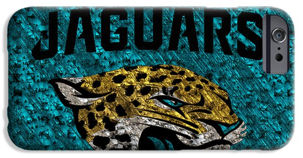 Jacksonville iPhone Cases - Jacksonville Jaguars iPhone Case by Jack Zulli