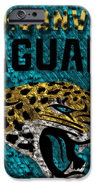 Jacksonville Jaguars iPhone Case by Jack Zulli