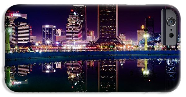 Jacksonville iPhone Cases - Jacksonville Reflects iPhone Case by Frozen in Time Fine Art Photography