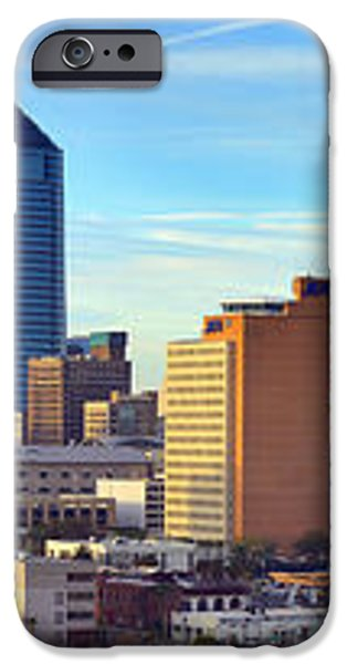 Jacksonville Skyline Morning Day Color Panorama Florida iPhone Case by Jon Holiday