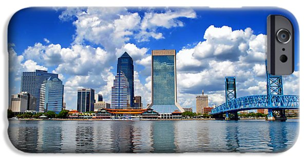 Jacksonville iPhone Cases - Jacksonville Skyline iPhone Case by Mountain Dreams