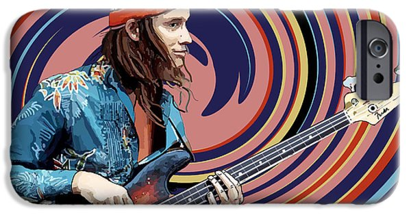 Pastorius iPhone Cases - Jaco Pastorius iPhone Case by Kevin Sweeney