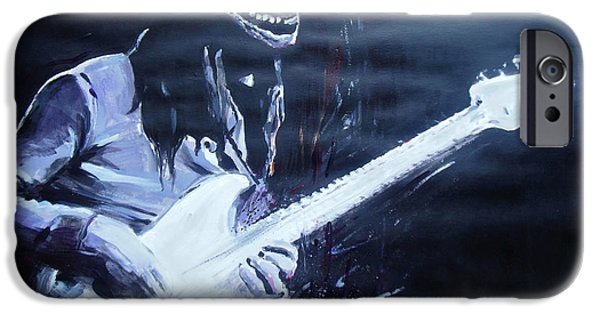Jaco iPhone Cases - Jaco Pastorius iPhone Case by Lucia Hoogervorst